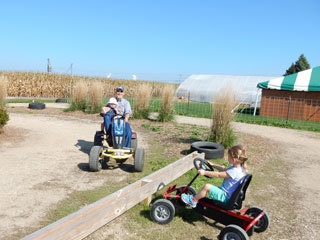 Swan's Pumpkin Farm in Racine County - Pedal Carts